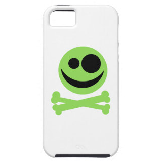 Green Skull and Crossbones. Case For The iPhone 5