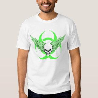 Green Skull & Biohazard Tee