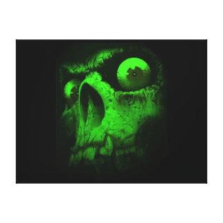 Green Skull Canvas Prints