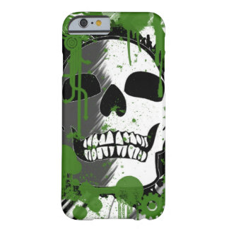 green skull head graffiti art barely there iPhone 6 case
