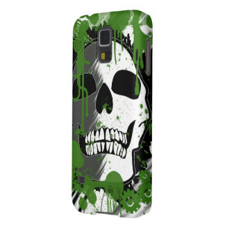 green skull head graffiti art galaxy s5 cover