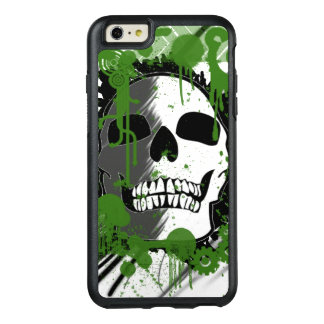 green skull head graffiti art OtterBox iPhone 6/6s plus case