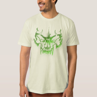 green skull head graffiti art T-Shirt