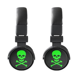 Green Skull Head Phones Headphones