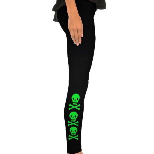 green skull leggings