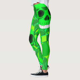 green skull leggings variation