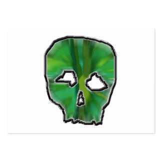 Green Skull. Pack Of Chubby Business Cards