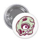 Green Skull Pinback Buttons