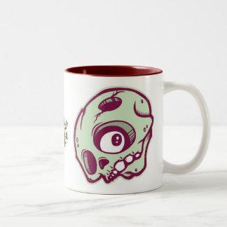 Green Skull Two-Tone Mug