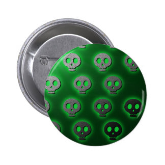 Green Skulls Glow Button