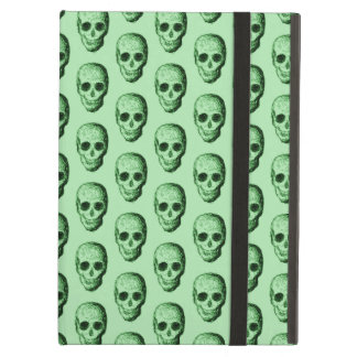 Green Skulls Pattern. iPad Air Covers