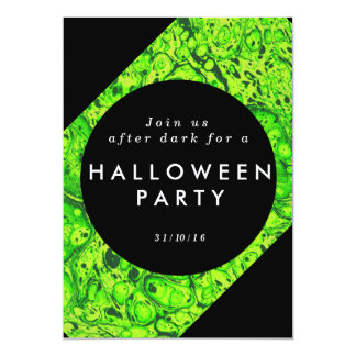 Green slime and black Halloween invite