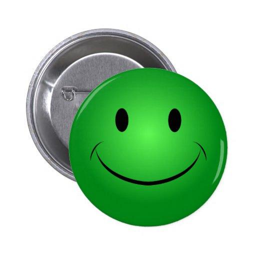 Green Smiley Button