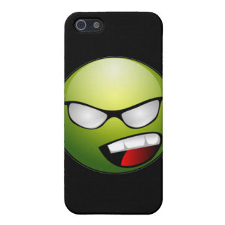 Green Smiley Face iPhone Case iPhone 5 Cases