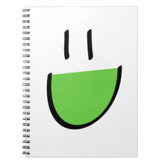 Green Smiley Face Notebook (Ringed)