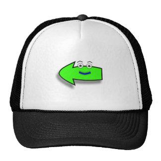Green Smiling Left Arrow Trucker Hat