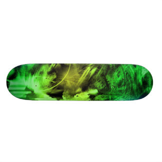 Green Smoke Skateboard Deck