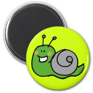 Green snail magnet