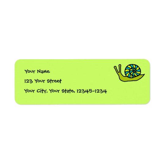 Green Snail Return Address Label