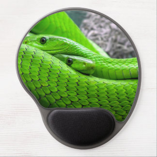 Green Snake Gel Mouse Pad