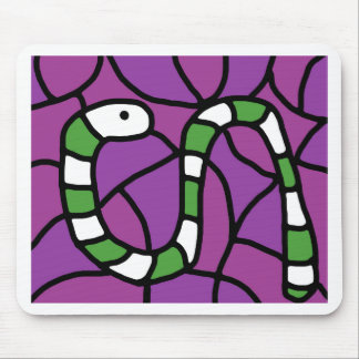 Green snake mouse pad
