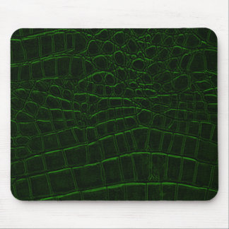 Green Snake Skin Leather Mouse Pad