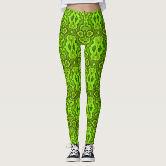 Green Snake Skin Leggings