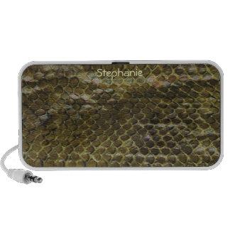 Green Snake Skin Speakers