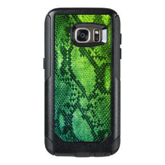 Green Snake skin style Samsung Cases