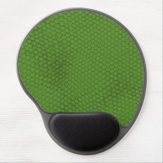 Green Snake Skin Texture Gel Mouse Pad