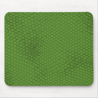 Green Snake Skin Texture Mouse Pad