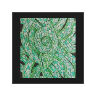 Green Snake Stretched Canvass Print
