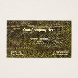 Green Snakeskin Business Card