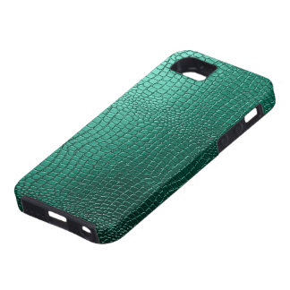 Green Snakeskin Leather Pattern Look iPhone 5 Cases