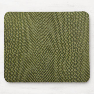 green snakeskin print mouse pad