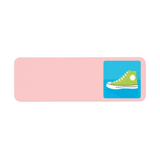 Green Sneaker Return Address Label