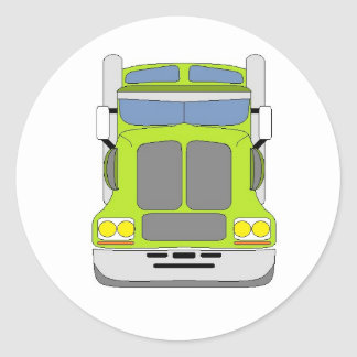 green snot truck classic round sticker