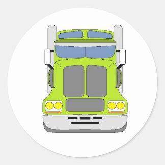green snot truck round sticker