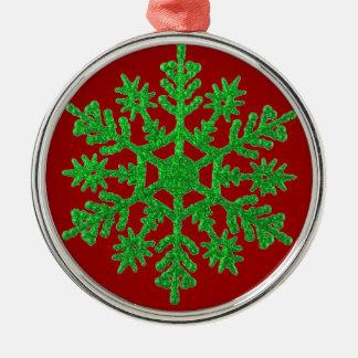 Green Snowflake Ornament