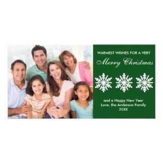 Green Snowflakes - Photo Card