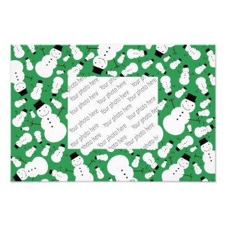 Green snowmen photograph