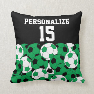 Green Soccer Ball Collage | DIY Name & Number Cushion