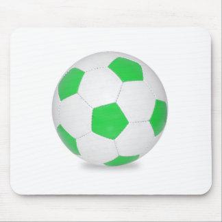 Green Soccer Ball Mousepads