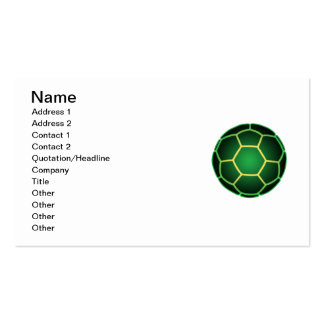 Green soccer ball pack of standard business cards