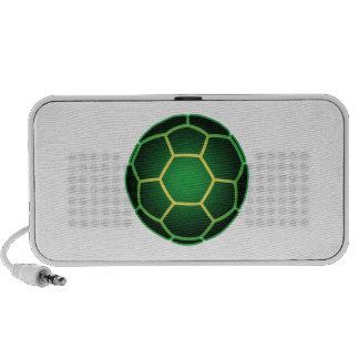 Green soccer ball notebook speaker