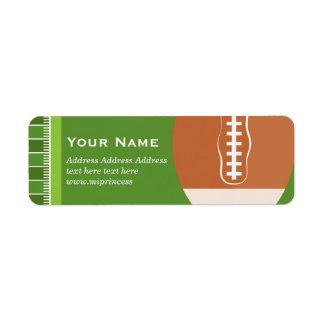 green, soccer, sport Return Address Labels