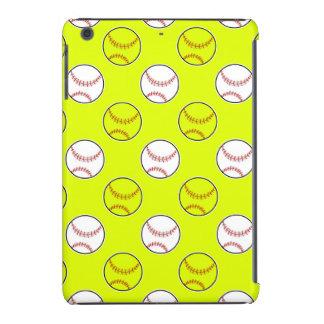 Green Softball Pattern iPad Mini Case