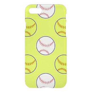 Green Softball Pattern iPhone 7 Case