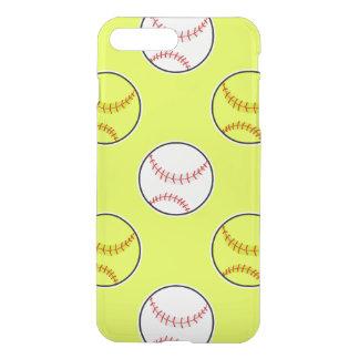 Green Softball Pattern iPhone 7 Plus Case