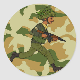 GREEN SOLDIER PAKISTAN CLASSIC ROUND STICKER